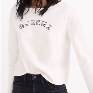 Madewell Queens Graphic Tee Cream Size Small